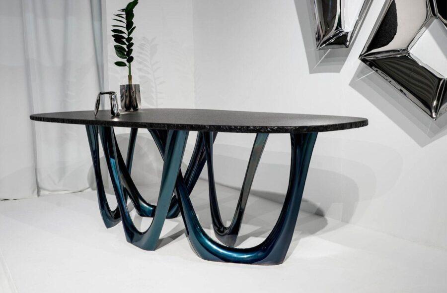 g-table heat cosmic blue granite table top ploppy miniature crystals
