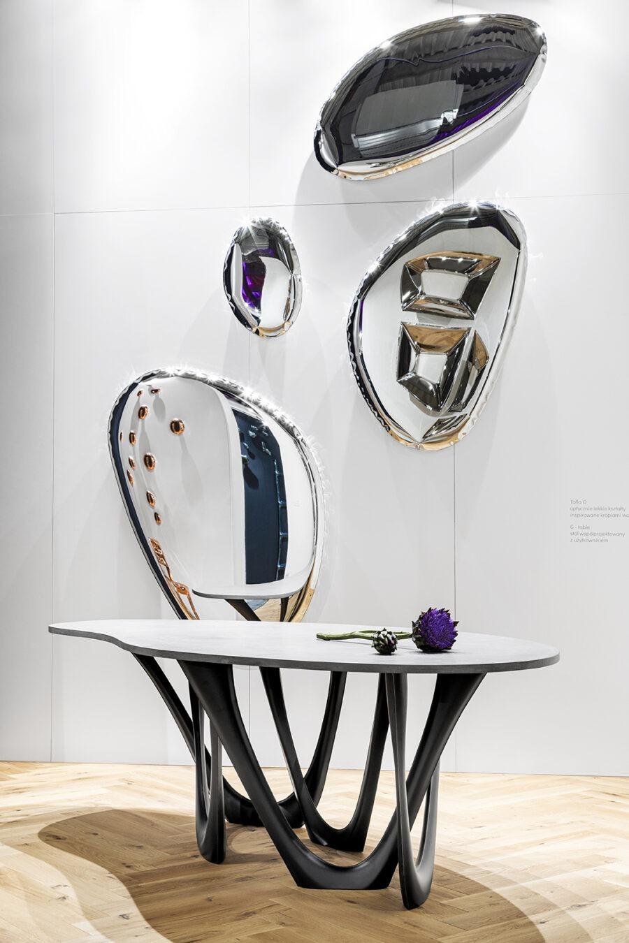 g-table concrete tafla o mirror