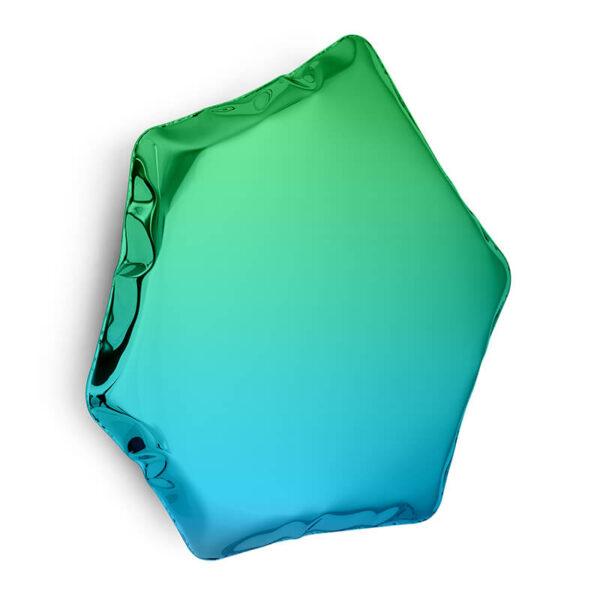 tafla C6 mirror sapphire-emerald by zieta studio