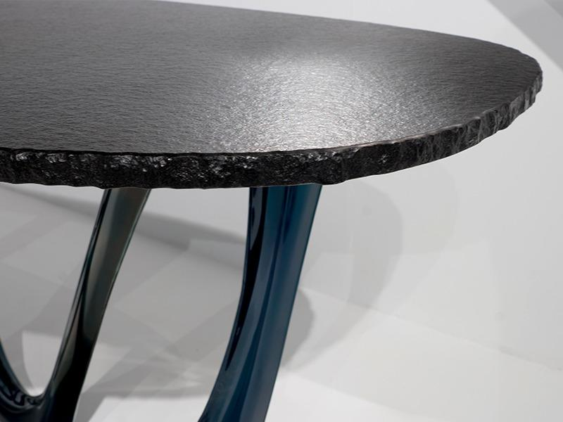 g-table granite table top heat cosmic blue