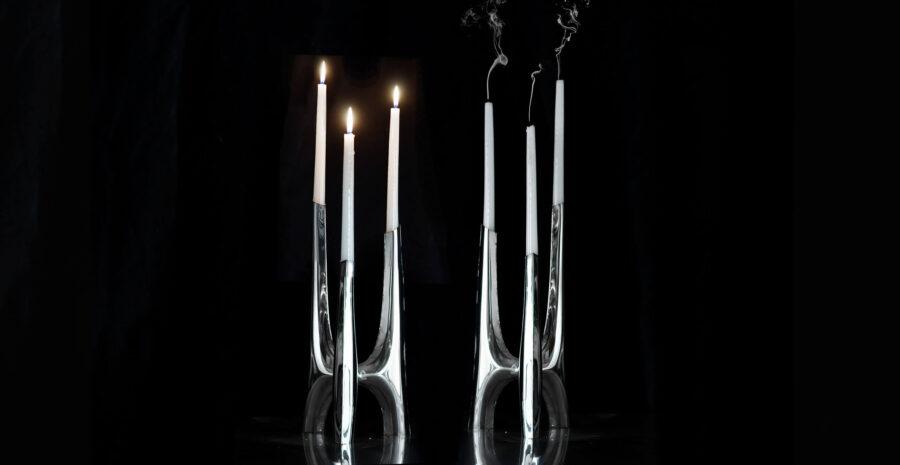 triglav candle holder black background