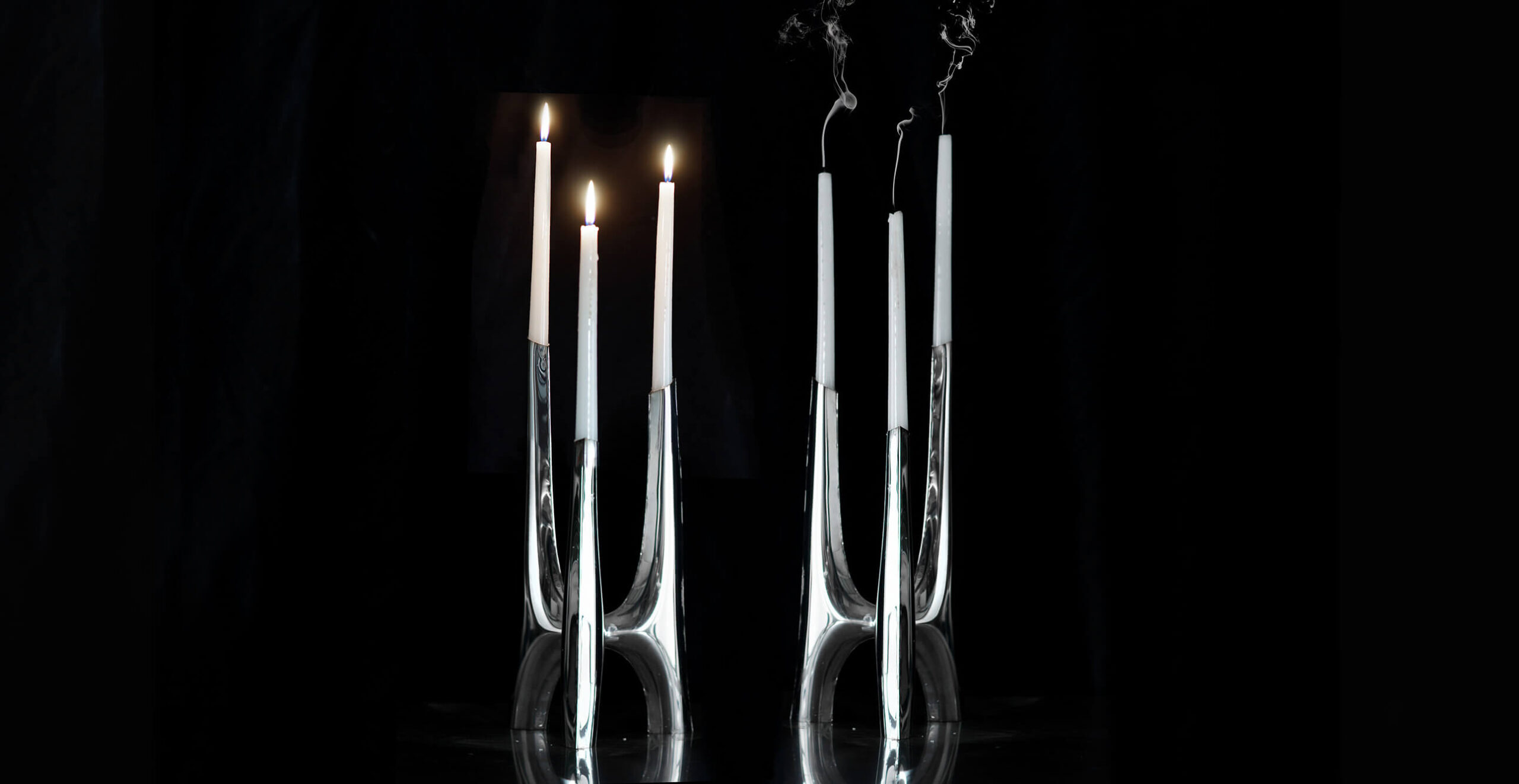 triglav candle holder black background
