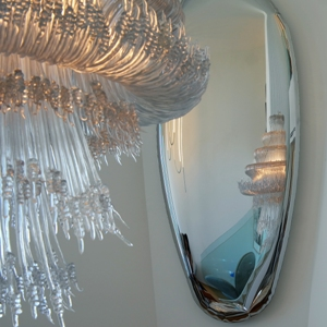 Tafla, mirror, Oskar Zieta, inflated metal, furniture, art, Metall spiegel aufgeblasener, lustro, color, miroir, luxury