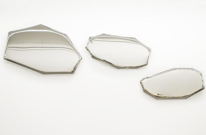 Tafla, mirror, Oskar Zieta, inflated metal, furniture, art, Metall spiegel aufgeblasener, lustro, color, miroir, luxury