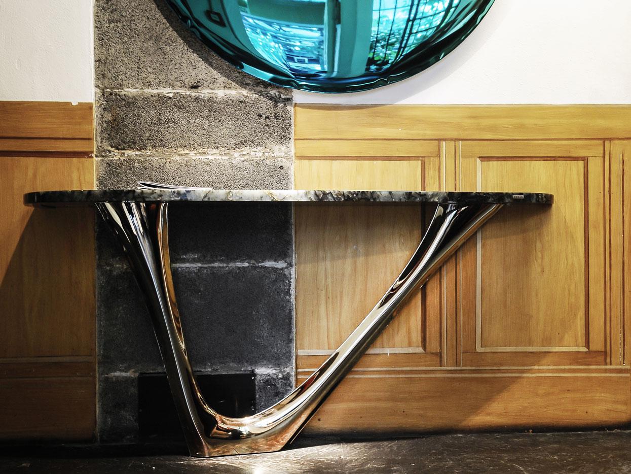 Rossana Orlandi Fuorisalone Salone de mobile 2018 Zieta Prozessdesign Chippensteel Plopp G-Table Heat