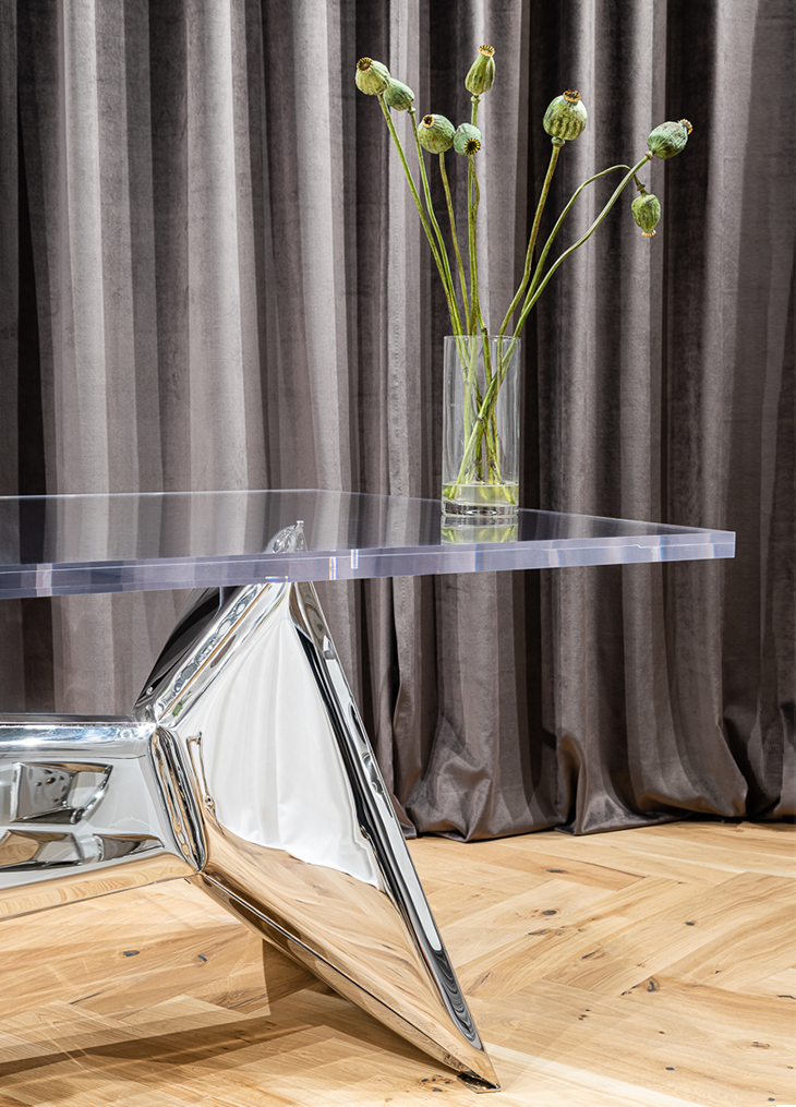 crystals table