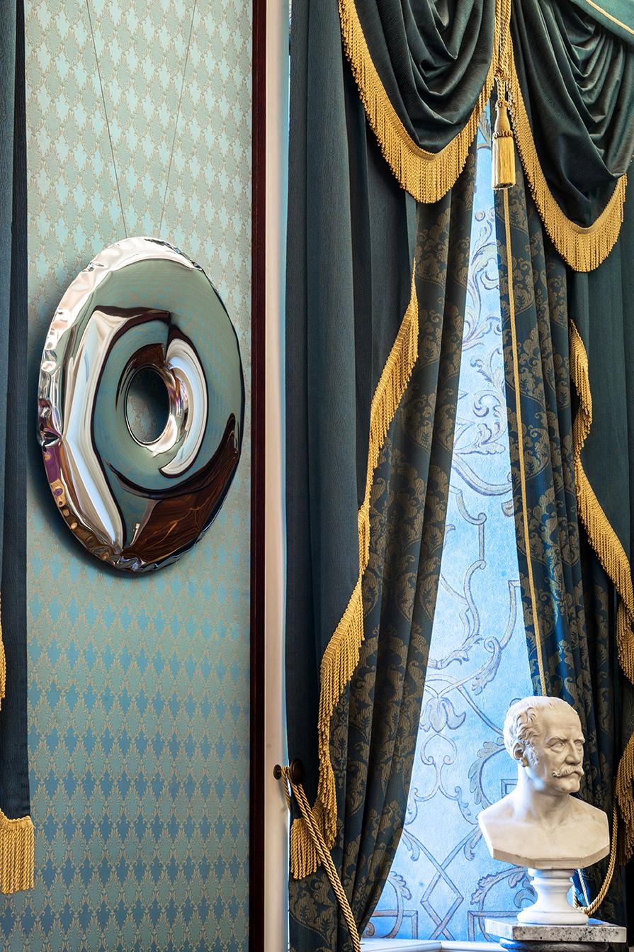 rondo mirror inox